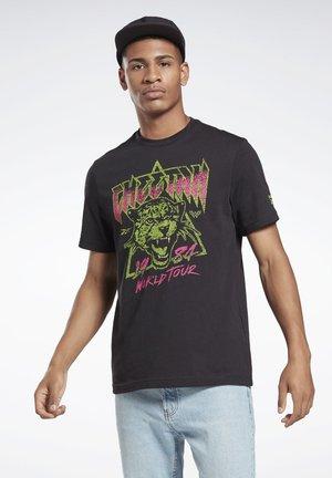 WOMAN REPEAT T-SHIRT - Print T-shirt - black