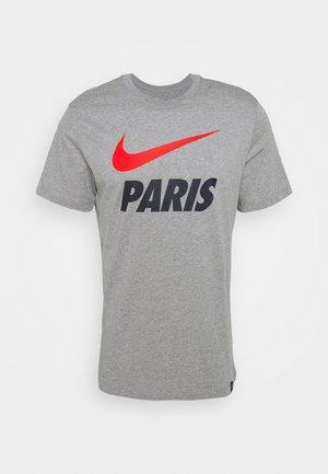 PARIS ST GERMAIN TEE GROUND - Club wear - dark grey heather