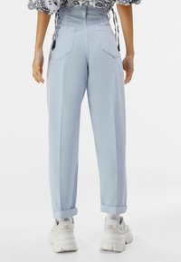 Bershka - Trousers - light blue - 2