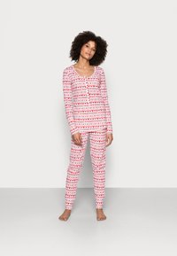 Cotton On Body - HENLEY LONG JOHN - Pyjama set - red - 1