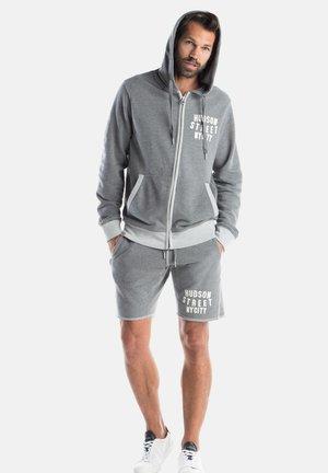 Zip-up hoodie -  dark marl