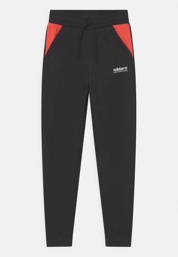 UNISEX - Jogginghose - black/bright red