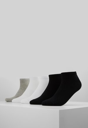 NO SHOW SOCKS 5 PACK - Ankelsockor - black/white/grey