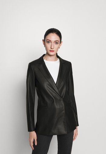 ARIESA - Krátký kabát - black
