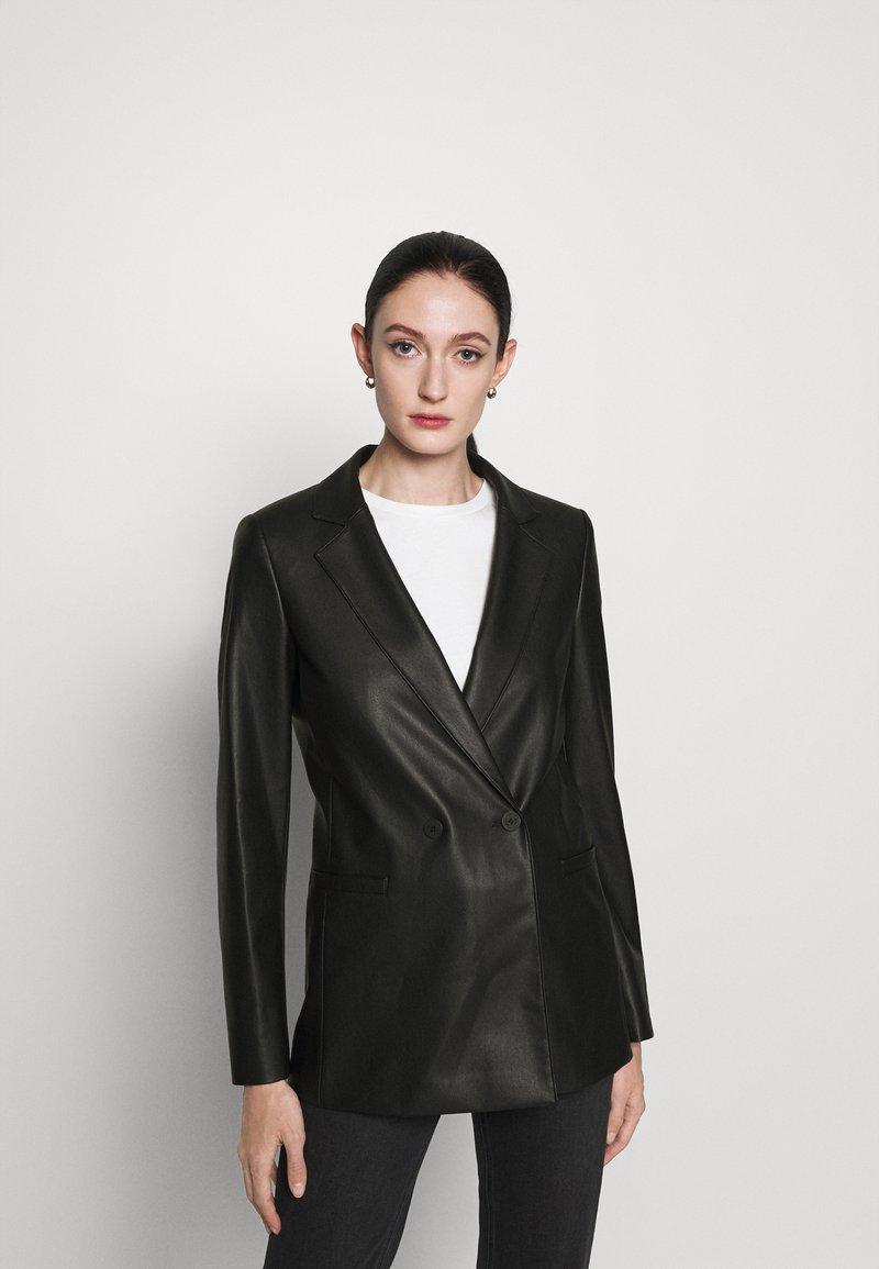 HUGO - ARIESA - Short coat - black