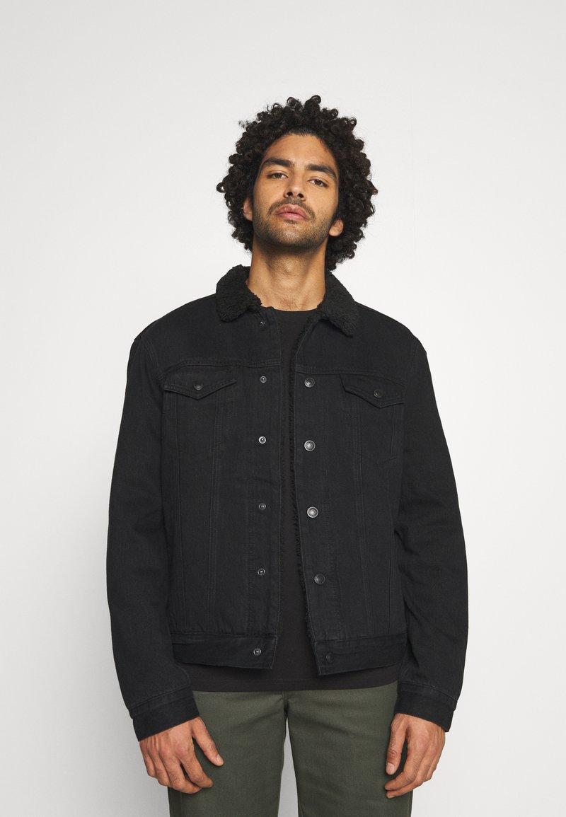 AllSaints - ALDER JACKET - Denim jacket - black