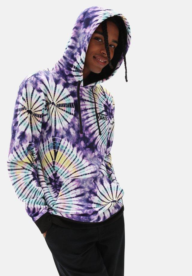 Hoodie - new age purple tie dye