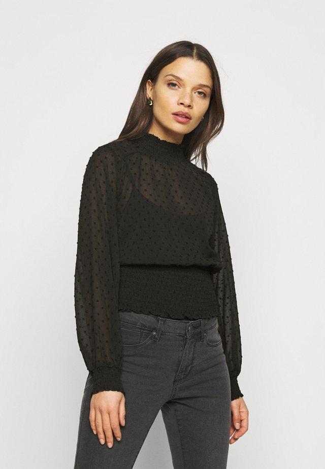 OBJGRETA - Maglietta a manica lunga - black