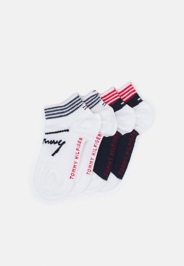 KIDS SNEAKER STRIPE 4 PACK UNISEX - Trainer socks - white/blue