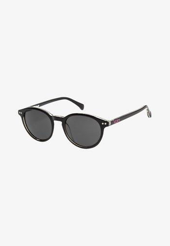 STEFANY  - Sunglasses - shiny black white/grey