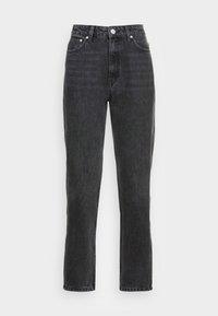 Gestuz - DENA  MOM JEANS  - Straight leg jeans - washed black - 3