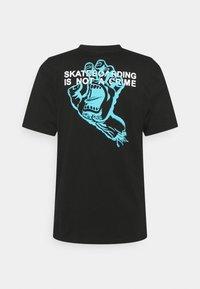Santa Cruz - UNISEX CRIME HAND - Print T-shirt - black - 1
