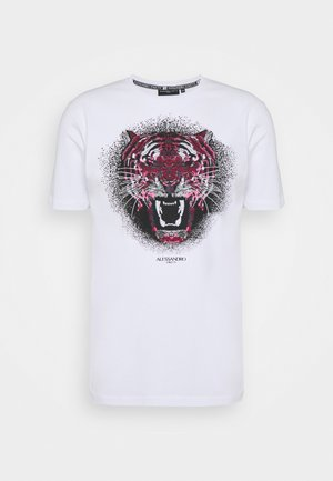 GROWLER RED TEE - T-shirt print - optic white/red