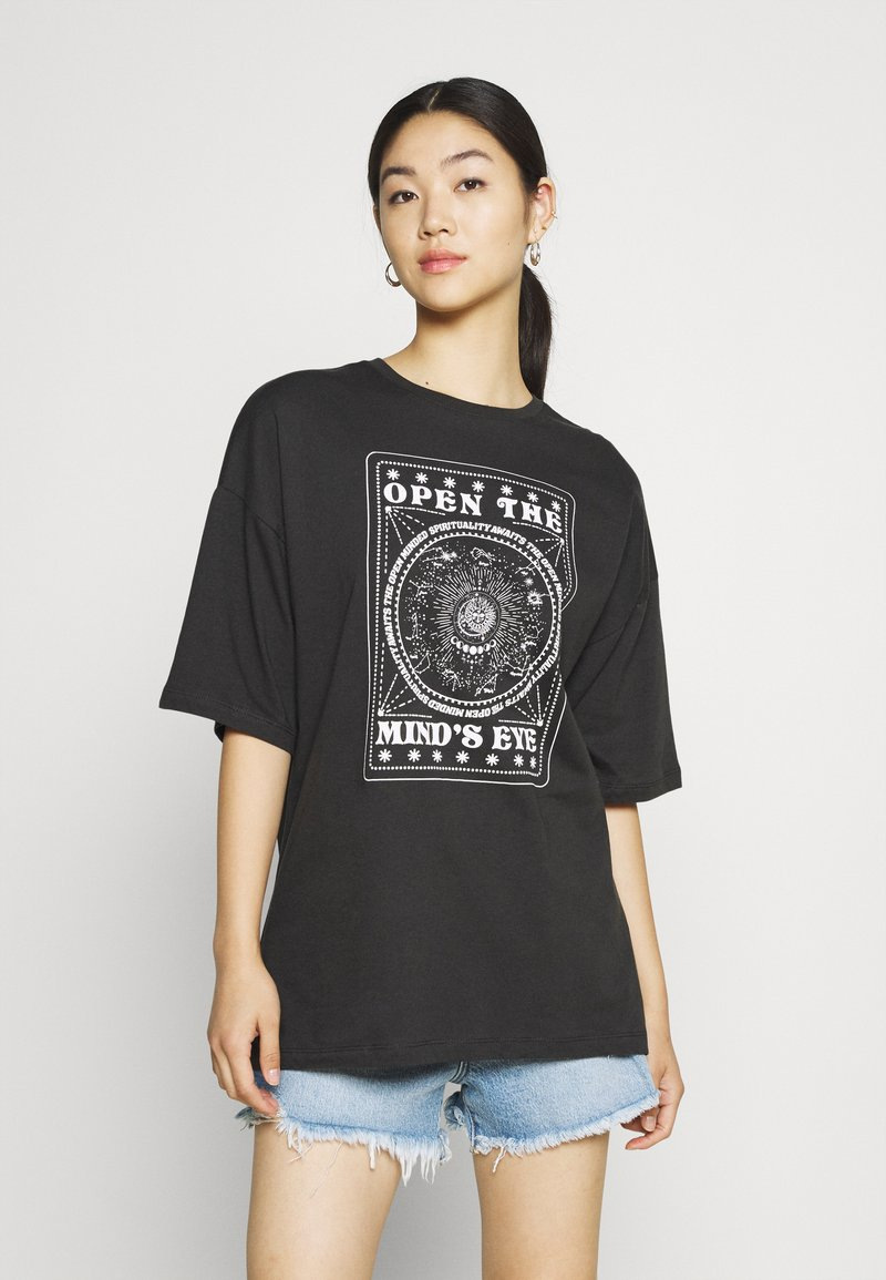 Even&Odd - T-shirt med print - anthracite