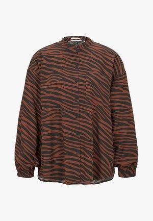 Button-down blouse - black/brown