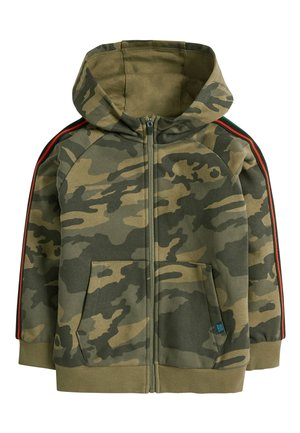 CAMOUFLAGE ZIP THROUGH HOODY (3-16YRS) - Zip-up hoodie - green