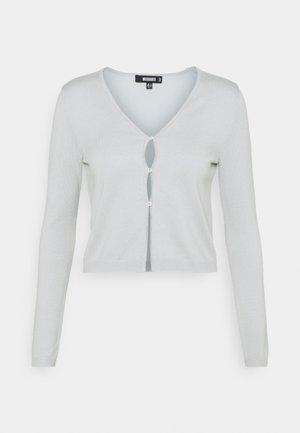 PEARL FRONT SKINNY CARDIGAN - Cardigan - mint