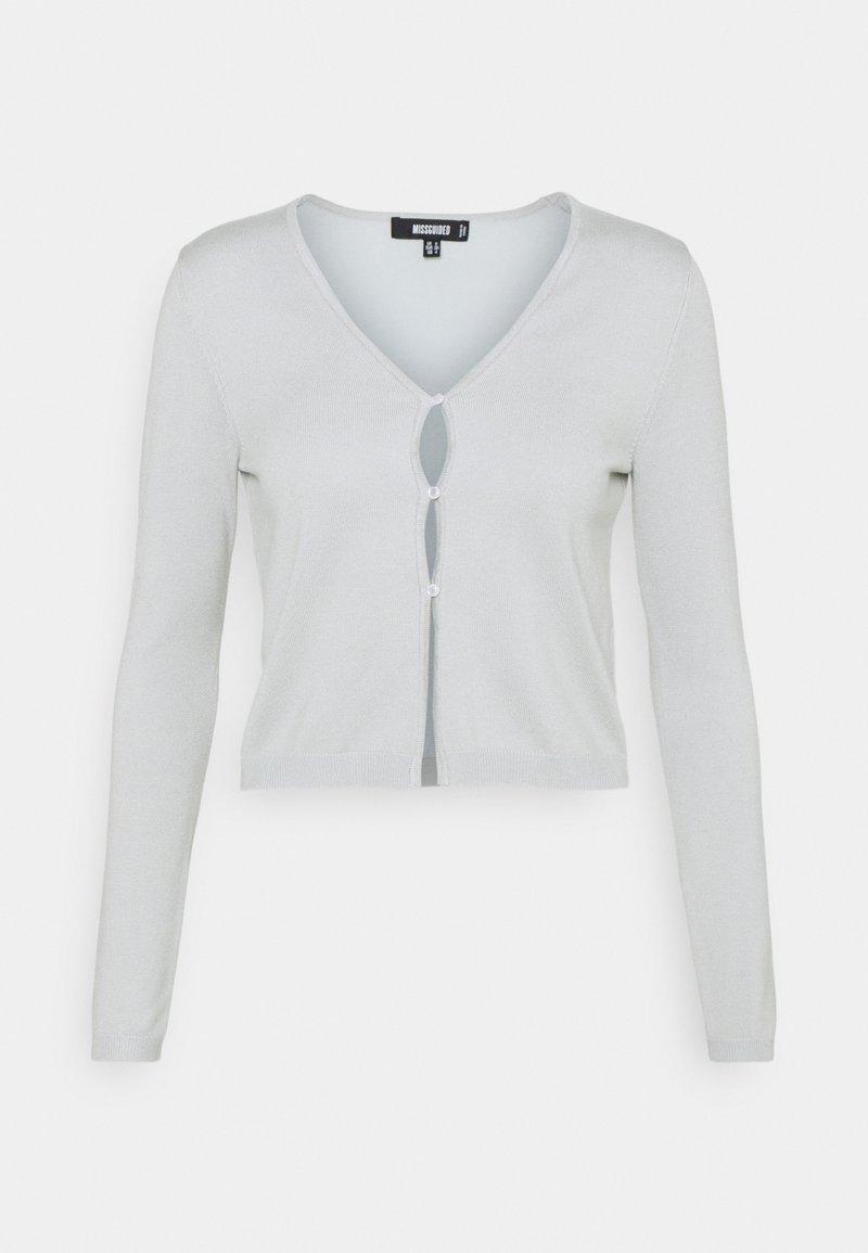 Missguided - PEARL FRONT SKINNY CARDIGAN - Cardigan - mint