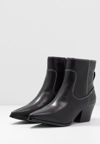 Glamorous Wide Fit - Cowboy/biker ankle boot - black - 4