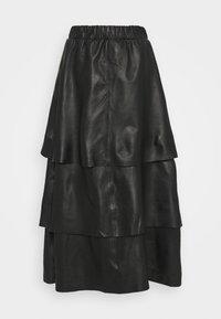 Ibana - SABINE LAYERED SKIRT - Maxi skirt - black - 3
