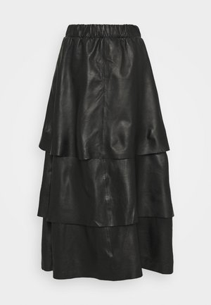 SABINE LAYERED SKIRT - Maxi skirt - black