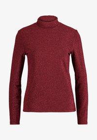 VILA PETITE - VIGLAMY ROLLNECK - Long sleeved top - black/raspberry/tawny port - 3