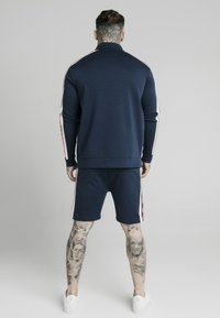 SIKSILK - RETRO FUNNEL NECK TAPEZIP THROUGH TRACK TOP - Chaqueta de punto - navy - 2