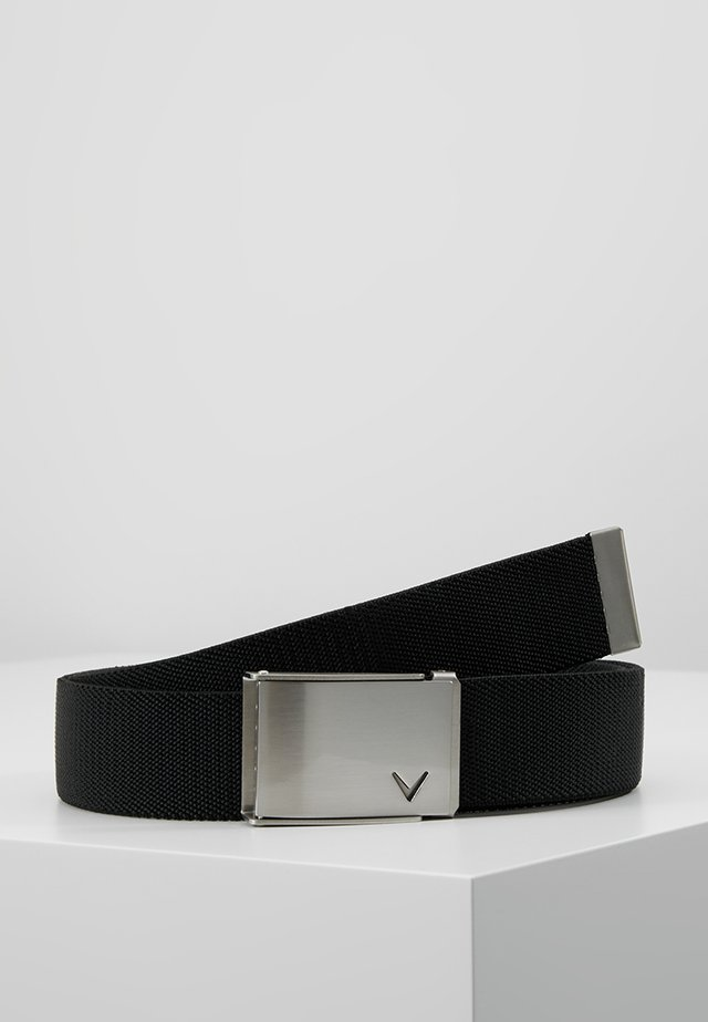 CUT TO FIT STRETCH BELT - Skärp - caviar