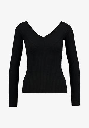 BARDOT NECKLINE - Strickpullover - black