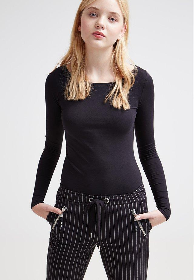 2 PACK - Long sleeved top - black/white