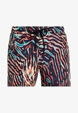 TIGER PRINT SWIM - Swimming shorts - orange multi