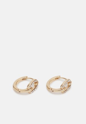 PAVE LINK HUGGIE - Earrings - gold-coloured