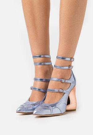GIGI - Classic heels - blue metallic/bronze