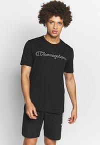 Champion - QUIK DRY  - Print T-shirt - black - 0