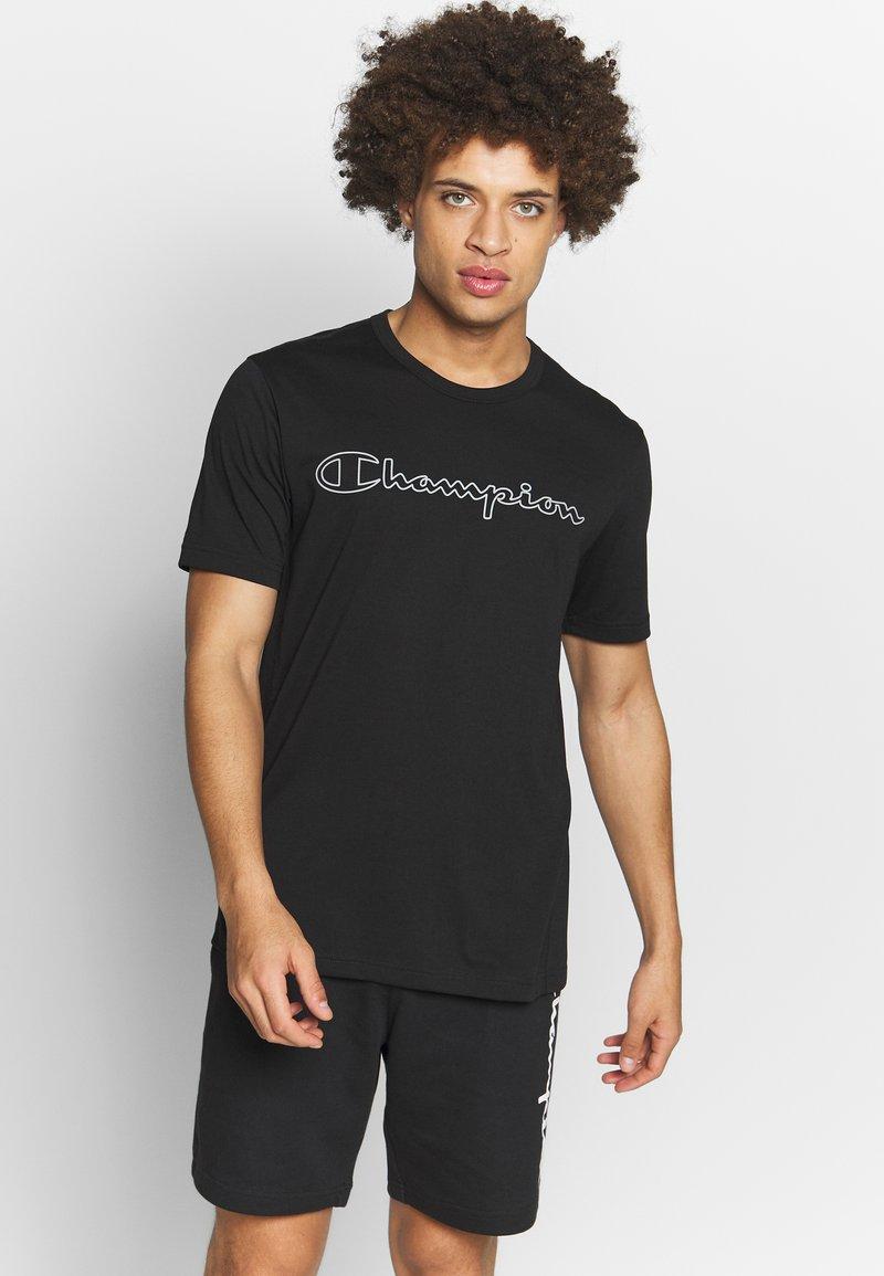 Champion - QUIK DRY  - Print T-shirt - black
