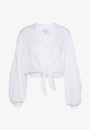 TIE FRONT - Blouse - white