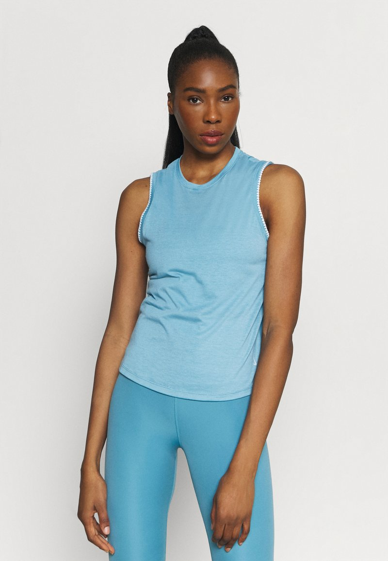 Nike Performance - CROCHET TANK - Camiseta de deporte - cerulean/sail/armory blue