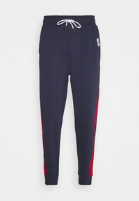 Tommy Jeans - MIX MEDIA BASKETBALL PANT - Pantaloni sportivi - twilight navy - 0