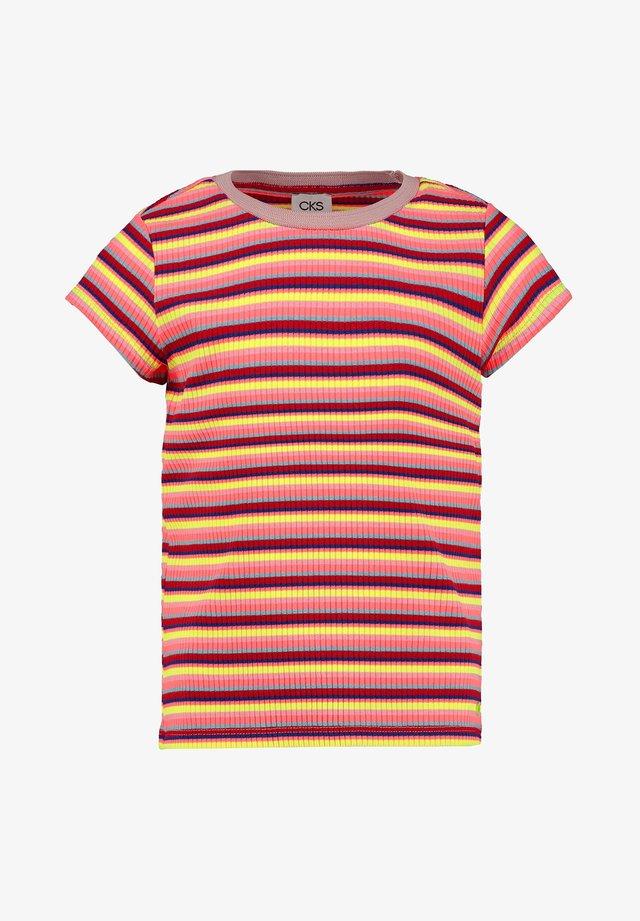 Print T-shirt - neon red