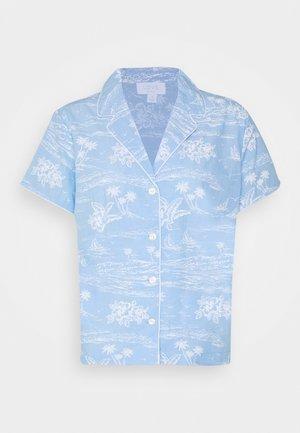 POPLIN - Pyjamashirt - blue hawaiian floral