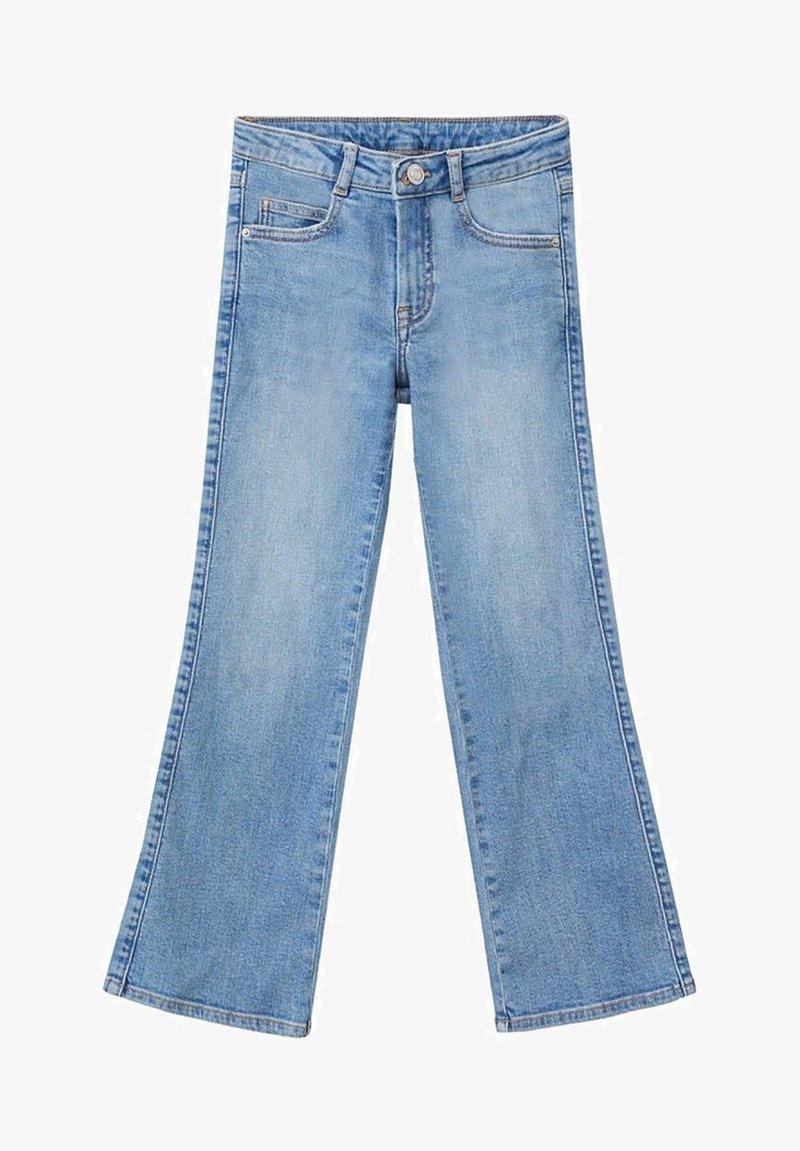 Mango - FLARE - Flared Jeans - středně modrá
