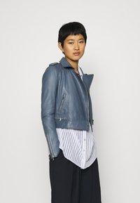 Oakwood - YOKO - Leather jacket - blue - 0