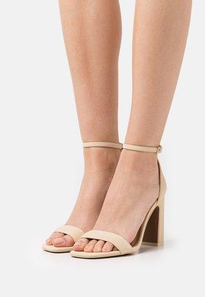 VEGAN KLOE - High heeled sandals - light yellow