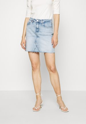 SHORT SKIRT - Jeansskjørt - cony light blue comfort