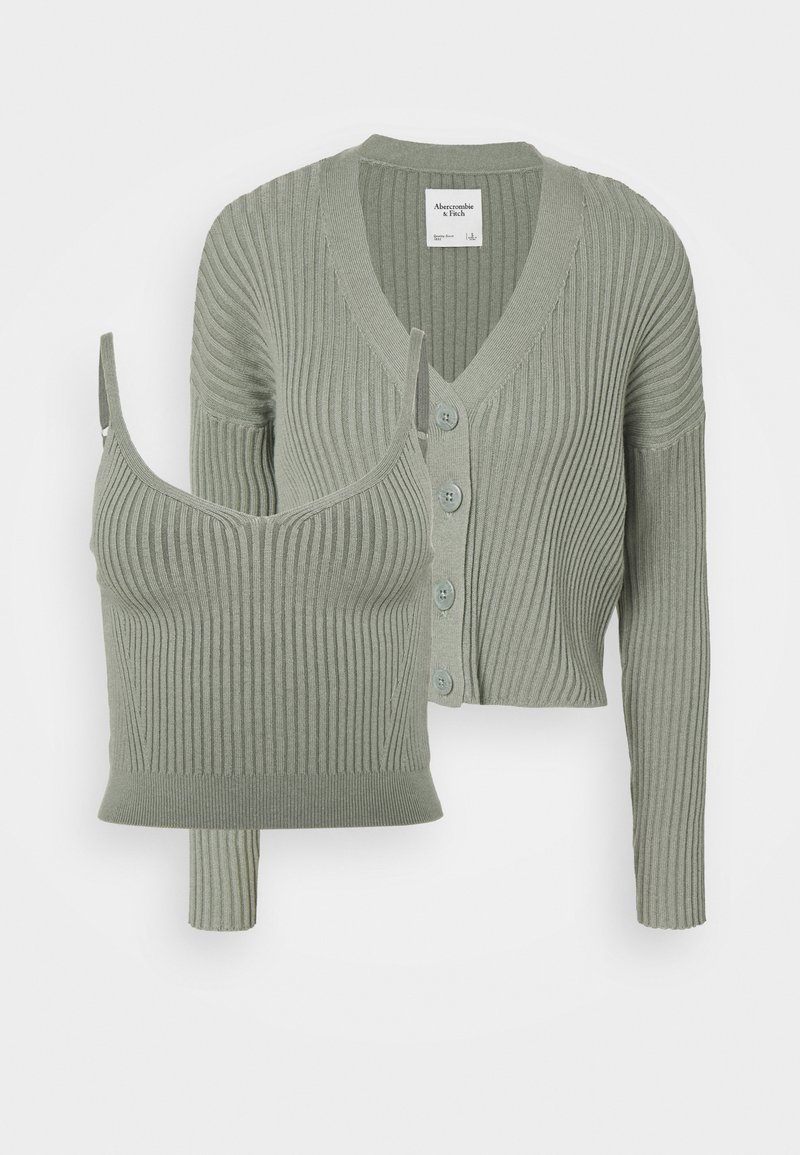 Abercrombie & Fitch - BRAMI TWINSET  - Cardigan - olive green