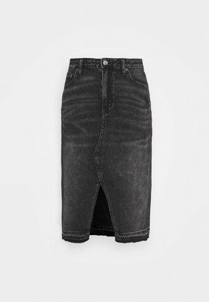 MIDI SKIRT - Pencil skirt - black wash