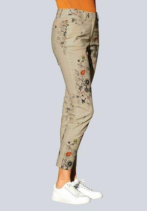 Trousers - beige,pfirsich,schwarz