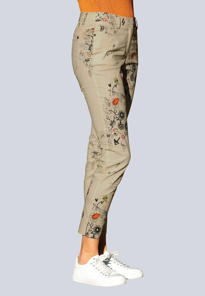 Alba Moda - Trousers - beige,pfirsich,schwarz
