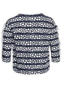 J.CREW - KIKI RUFFLE SLEEVE PRINTED - Print T-shirt - navy/ivory - 1