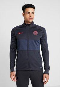 Nike Performance - PARIS ST GERMAIN DRY  - Klubbkläder - oil grey/obsidian/university red - 0